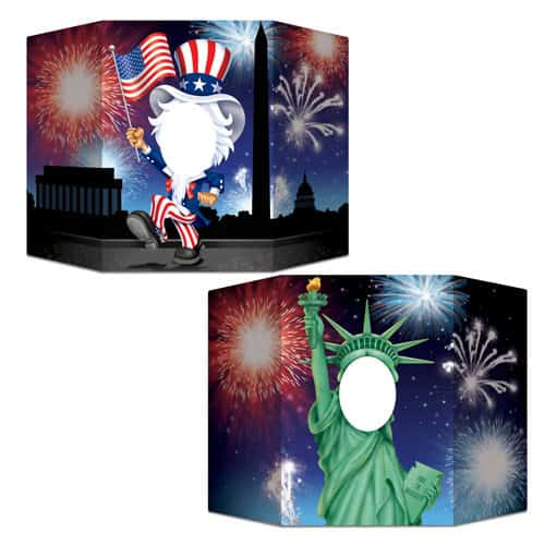 USA Patriotic Cardboard Photo Prop 94cm Product Image