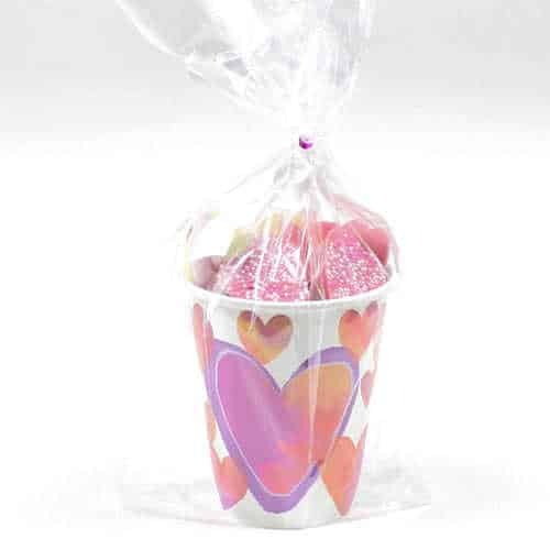 Watercolour Valentine Hearts Candy Cup