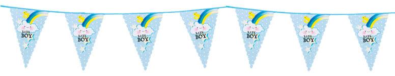 Baby Boy Plastic Bunting 6m