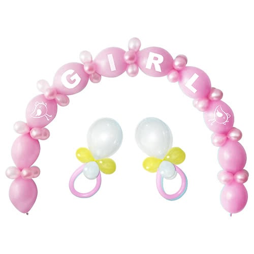 Pink Baby Shower Linking Balloon Kit - Pack of 64