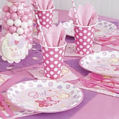 Its A Girl Clothesline Party Supplies