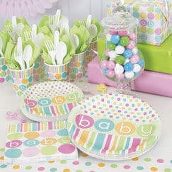 Pastel Baby Shower Party Supplies