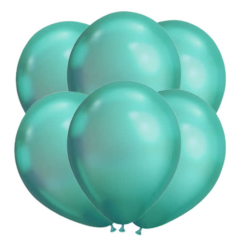 Chrome Green Latex Helium Qualatex Balloons 28cm / 11Inch - Pack of 100 Product Image