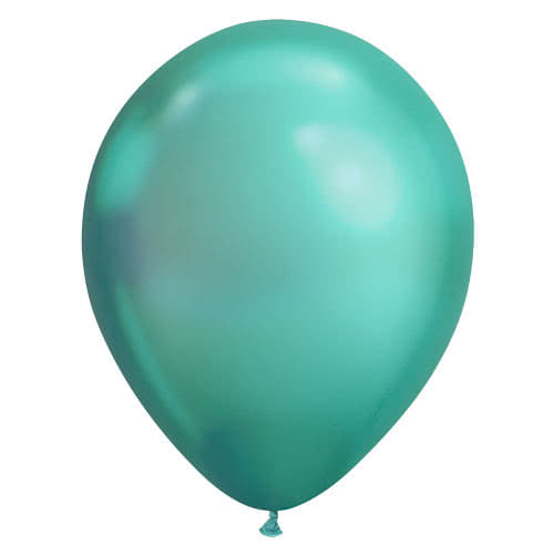 Chrome Green Latex Helium Qualatex Balloons 28cm / 11Inch - Pack of 100 Product Gallery Image