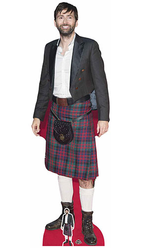 David Tennant In Kilt Lifesize Cardboard Cutout 183cm Product Gallery Image