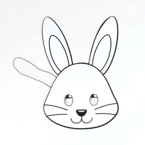 Easter Bunny Colour-In Cardboard Face Mask