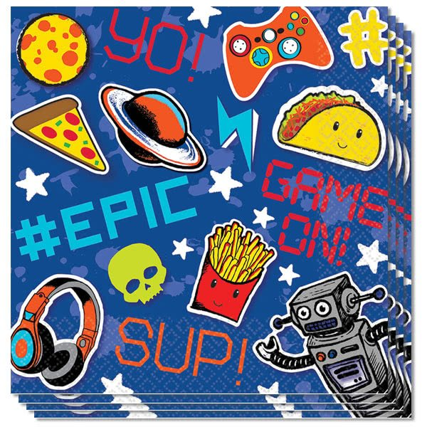 Epic Party Luncheon Napkins 33cm 2Ply - Pack of 16