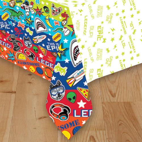 Epic Party Paper Tablecover 243cm x 137cm