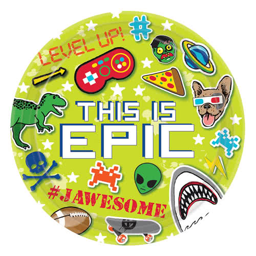 Epic Party Round Paper Plate 23cm