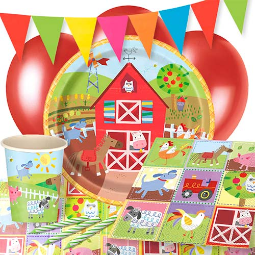 Farm Friends 8 Person Deluxe Party Pack