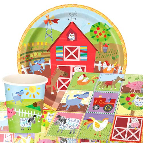 Farm Friends 8 Person Value Party Pack
