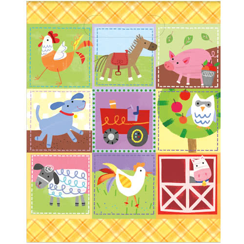 Farm Friends Party Loot Bags - Pack of 8