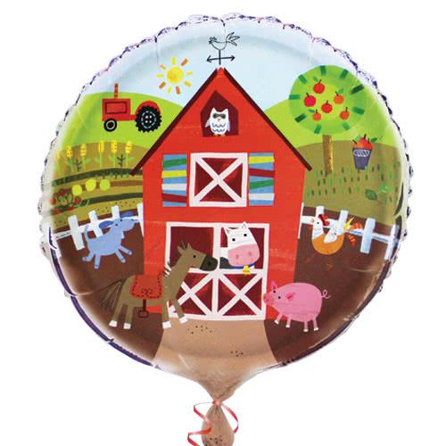 Farm Friends Party Round Foil Helium Balloon 46cm / 18Inch