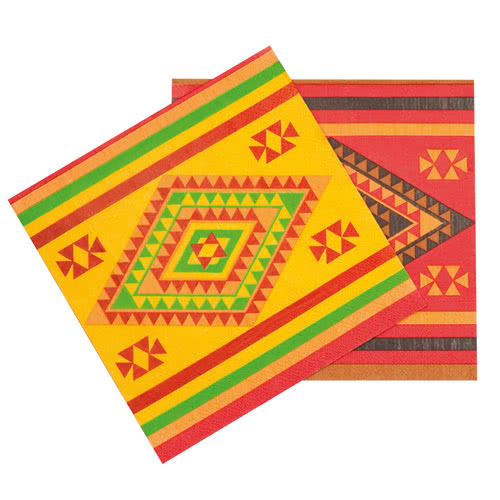 Fiesta Luncheon Napkins 33cm 2Ply - Pack of 12