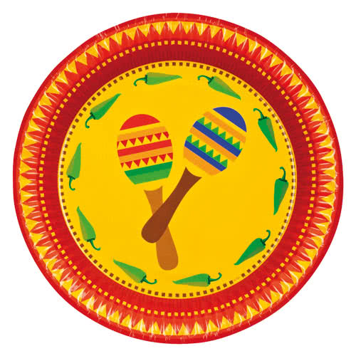 fiesta-paper-plates-23cm-pack-of-6-product-  sc 1 st  Partyrama & Fiesta Paper Plates 23cm - Pack of 6 | Partyrama