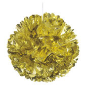 Gold Foil Honeycomb Hanging Decoration Puff Ball 40cm