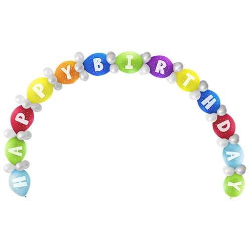 Happy Birthday Linking Balloon Kit - Pack of 65