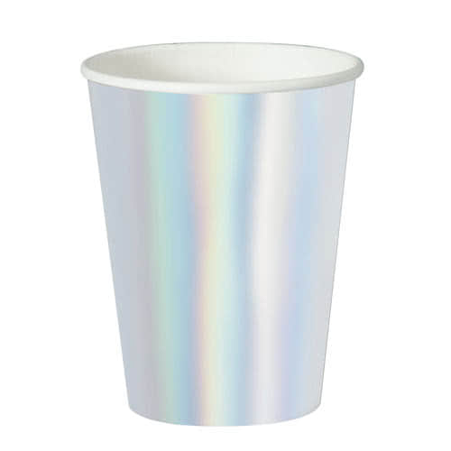 Iridescent Foil Paper Cups 355ml - Pack of 8