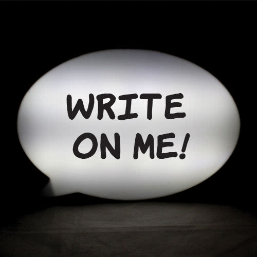 Light Up Led Speech Bubble Message Board 30cm Product Gallery Image