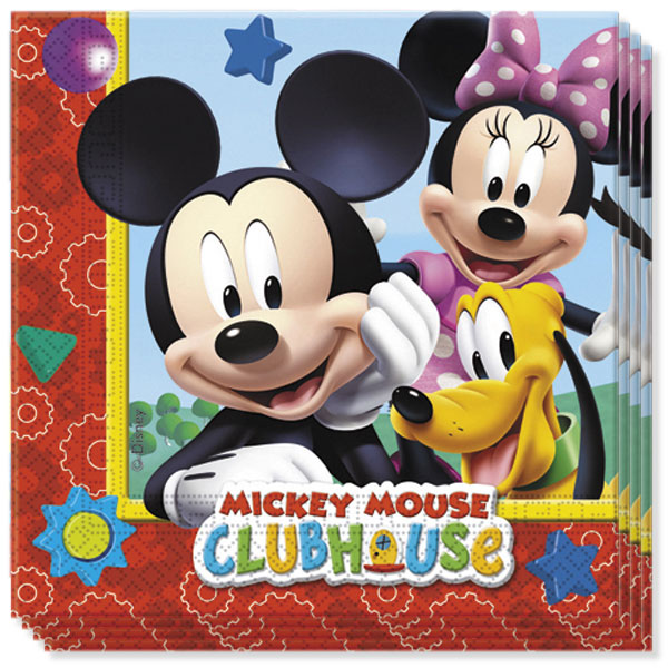 Mickey Mouse Clubhouse Luncheon Napkins 33cm 2Ply - Pack of 20