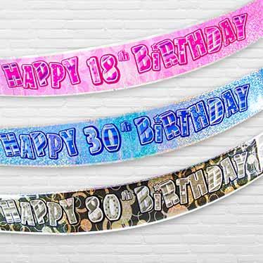 Milestone Birthday Banners