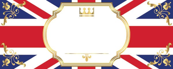 Union Jack Decorative Design Small Personalised Banner - 4ft x 2ft
