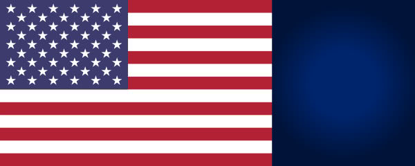 USA Flag Design Small Personalised Banner - 4ft x 2ft