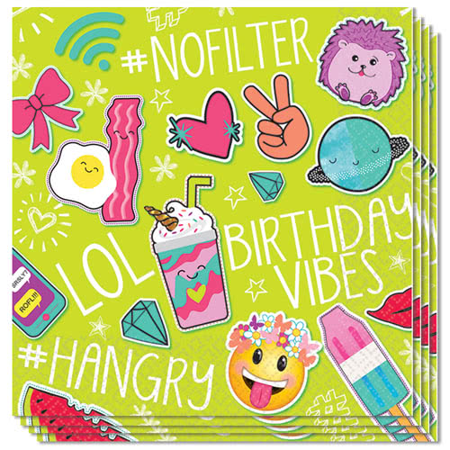 Selfie Celebration Luncheon Napkins 33cm 2Ply - Pack of 16