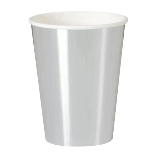 Silver Foil Paper Cups 355ml - Pack of 8