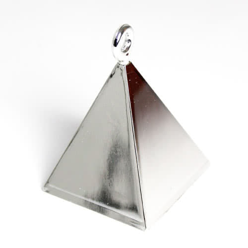 Silver Pyramid Balloon Weight Product Image