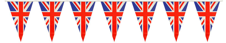 Union Jack Pennant Bunting Decoration 7m