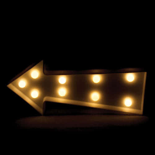White Arrow Led Light Decoration 23cm Product Gallery Image