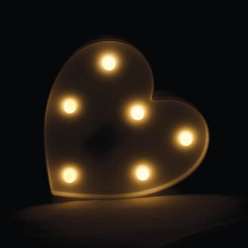 White Heart Led Light Decoration 17cm Product Gallery Image
