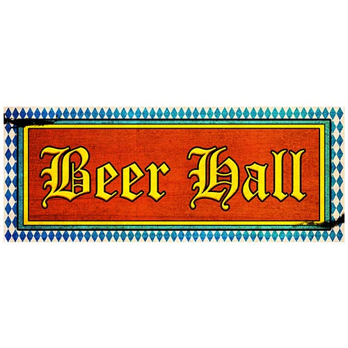 Beer Hall PVC Party Sign Decoration 50cm x 20cm