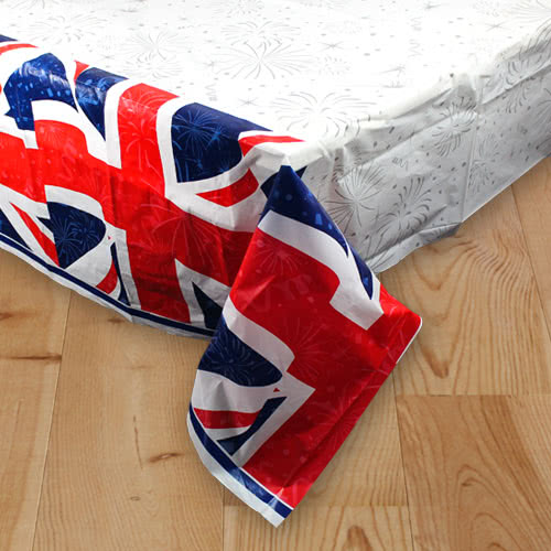 Best of British Union Jack Plastic Tablecover 213cm x 137cm