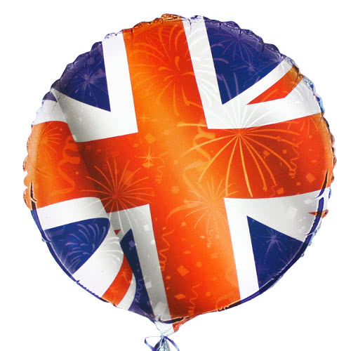 Best of British Union Jack Round Foil Helium Balloon 46cm / 18Inch
