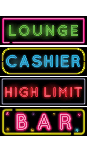casino-lounge-bar-cashier-high-limits-signs-product-image
