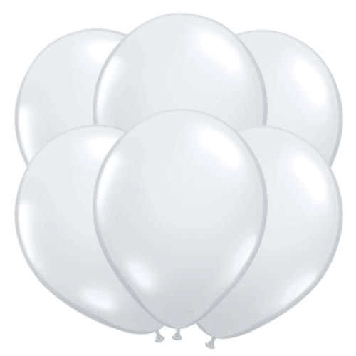 Diamond Clear Latex Qualatex Balloons 40cm / 16Inch - Pack of 50 Gallery Image