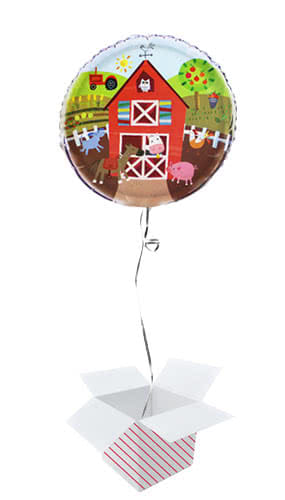 farm-friends-party-round-foil-helium-balloon-inflated-balloon-in-a-box-product-image