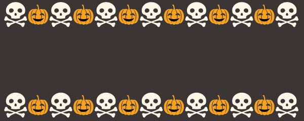 Halloween Skulls And Pumpkins Design Small Personalised Banner - 4ft x 2ft