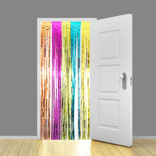 Multi-Colour Metallic Shimmer Curtain 92 x 244cm