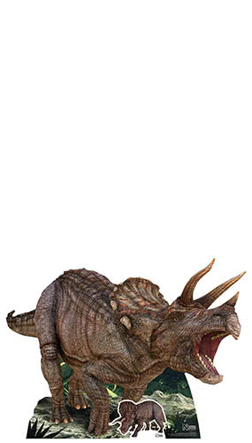 Natural History Museum Triceratops Dinosaur Lifesize Cardboard Cutout 128cm Product Gallery Image