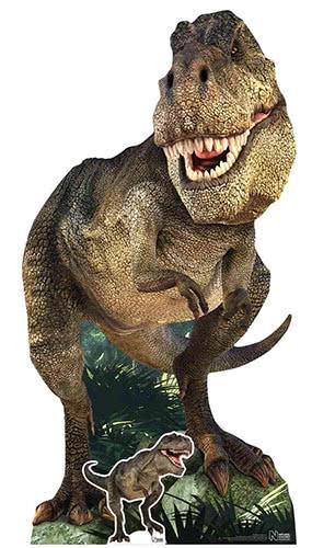Natural History Museum Tyrannosaurus Rex Dinosaur Lifesize Cardboard Cutout 186cm Product Gallery Image