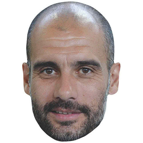 Pep Guardiola Manchester City Manager Cardboard Face Mask