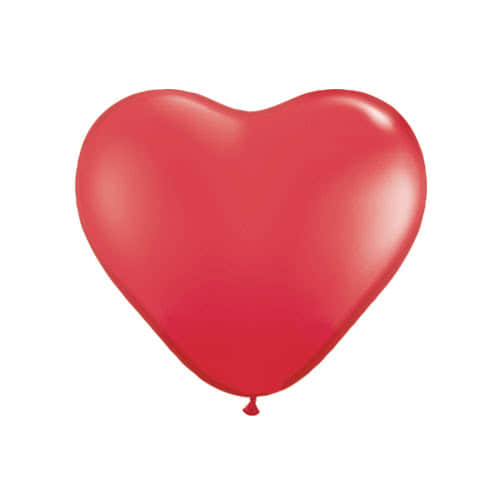 Red Heart Shape Latex Qualatex Balloon 28cm / 11Inch Product Image