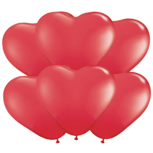 Red Heart Shape Latex Qualatex Balloons 28cm / 11Inch – Pack of 100 Product Image