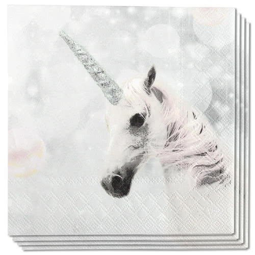 Unicorn Premium Luncheon Napkins 3Ply 33cm - Pack of 20 Product Image
