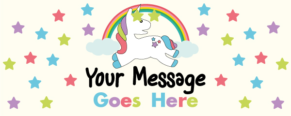 Unicorn Sparkles 2ft x 1ft Personalised Sign