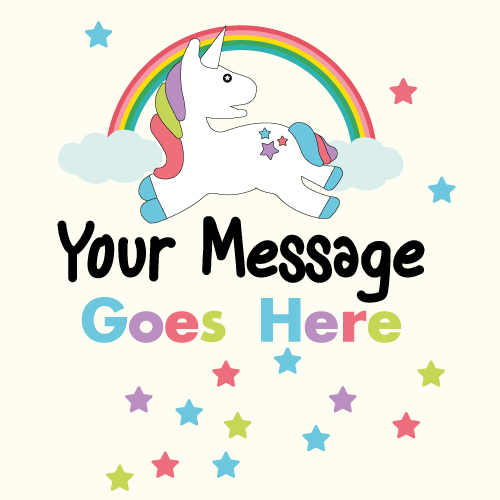 Unicorn Sparkles 2ft x 2ft Personalised Sign