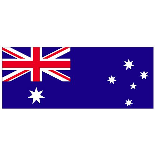 Australia Flag PVC Party Sign Decoration 60cm x 24cm